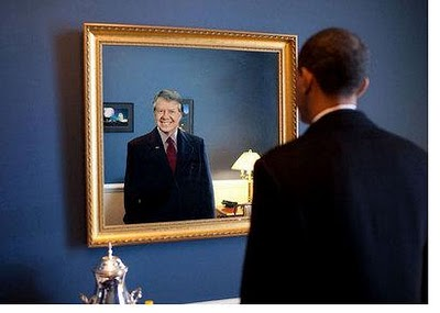 Obama sees Carter in his miror