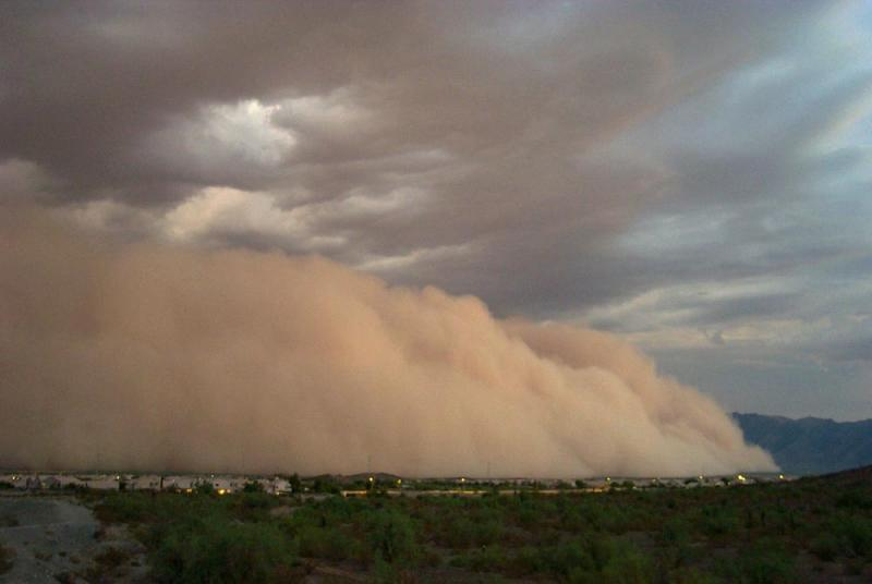 This isn't a Hollywood production, this is Phoenix enveloped by a dust storm