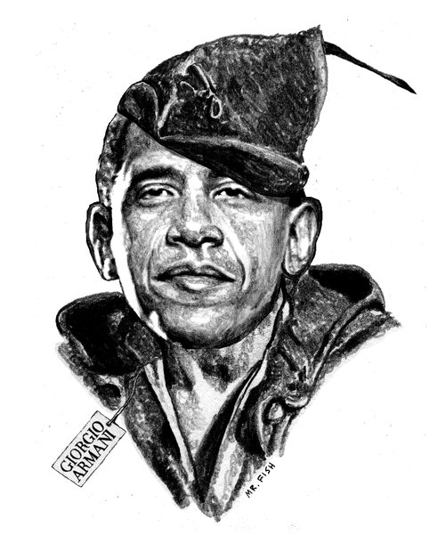 Obama Hood with Reverend Wright as Friar Tuck