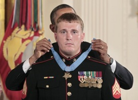 The Medal of Honor is presented to former SGT Dakota Meyer, USMC