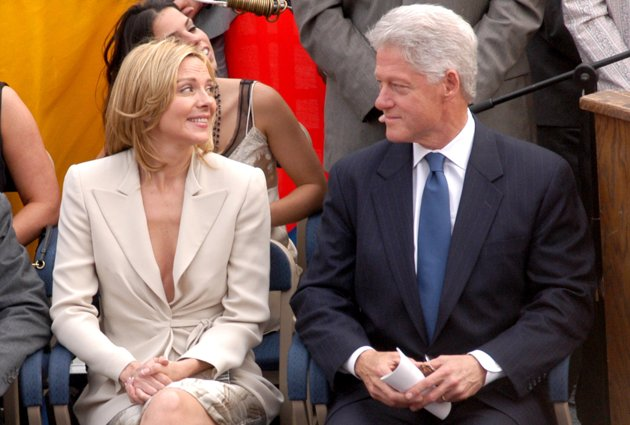 Kim Cattrall and former President Bill Clinton (Photo by Stephen Lovekin/FilmMagic)...