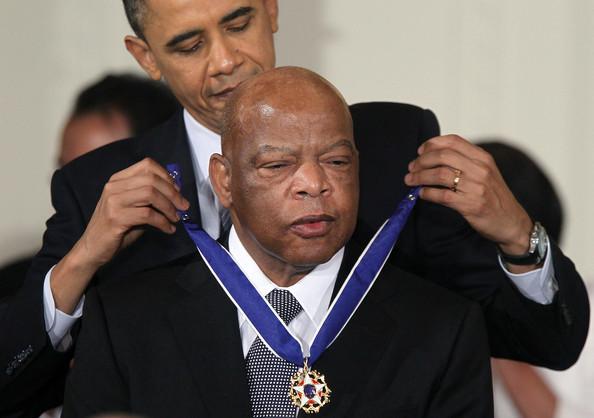 Predominantly white 'Occupy Atlanta' crowd shuts out civil rights icon John Lewis