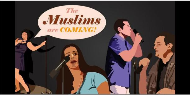 """""""Beware, America. The Muslims are coming, and they look and act suspiciously like you."""""""