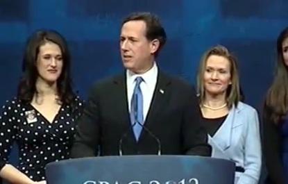 Rick Santorum at CPAC
