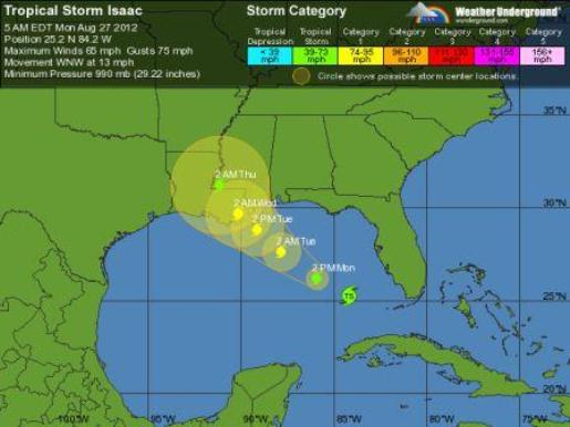 Seven Years Post-Katrina, Isaac Threatens Direct Hit On New Orleans