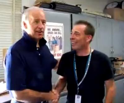 DNC's Joe Biden Video Features Joe Standing With a Union Criminal