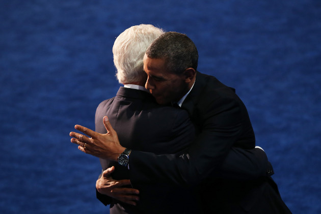 """Michelle Obama Claims Barack And Bill Clinton Have A """"Bromance"""""""
