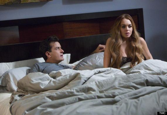 CHARLIE SHEEN and LINDSAY LOHAN in SCARY MOVIE 5