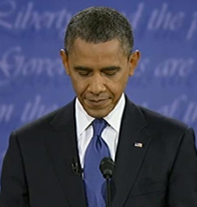 Obama at the First Presidential Debate: Sullenness Punctuated By Peevishness