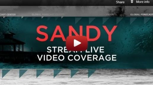 Hurricane Sandy Live Feed And Open Thread