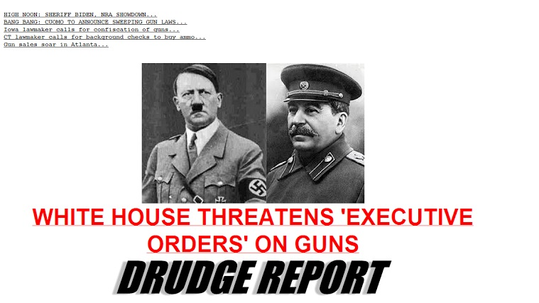 """White House Considering """"Executive Action"""" On Guns, Drudge Reminds Who Else Went That Route"""