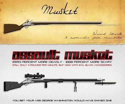 Visual Aid: The Stupidity of What Constitutes an 'Assault Weapon'