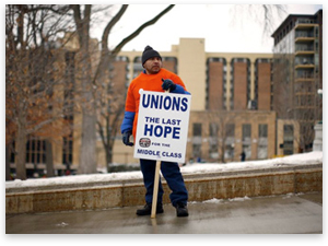 Where are the government employee unions?