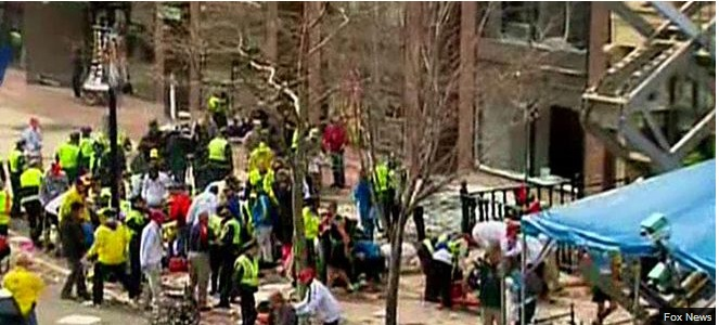 Bombs Explode at the Boston Marathon