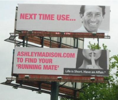 Infidelity Advocates Ashley Madison Uses Mark Sanford on Billboard Ad