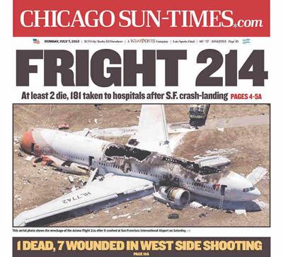 Chgo. Sun-Times Apologize Over 'Racist' Asiana Airlines Crash Headline