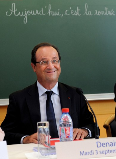 Francois Hollande was caught on camera on Tuesday making a funny face. AFP initially posted the picture on its website as available for downloading but – apparently concerned it was inappropriate for a head of state – later issued a 'mandatory kill' notice, meaning the photo must not be used.