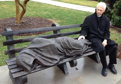 Church Wastes $22K On Metal 'Homeless Jesus' Statue Instead of Homeless