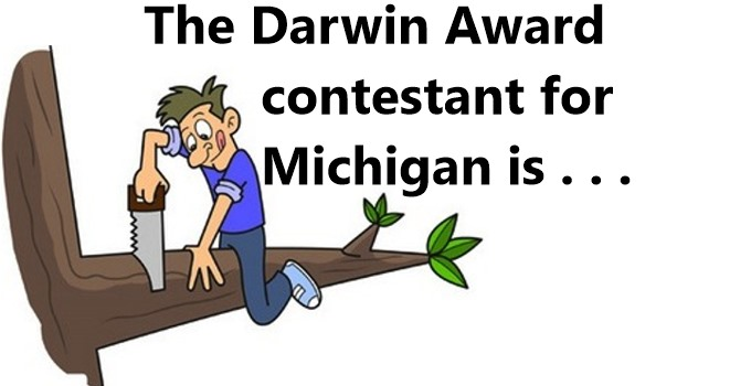 Competing for the Darwin Award is …