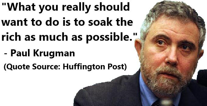 "Paul Krugman: ""Soak The Rich"""