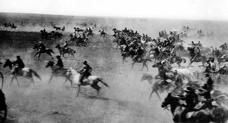 Obama Helping to Ban Historical Reenactments of 1889 Land Rush in Oklahoma Because it's 'Racist'