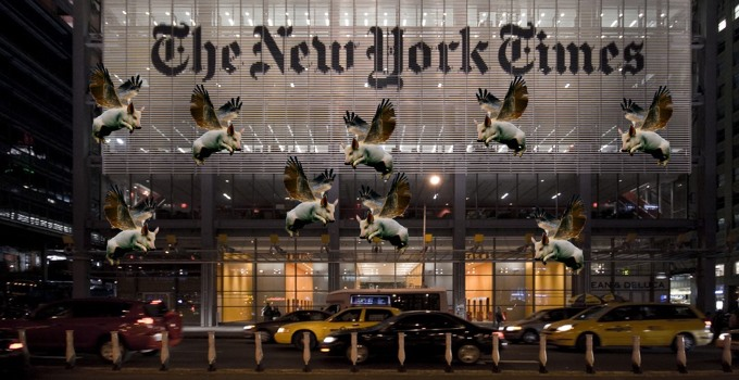 New York Times Exonerated; Pigs Flying.