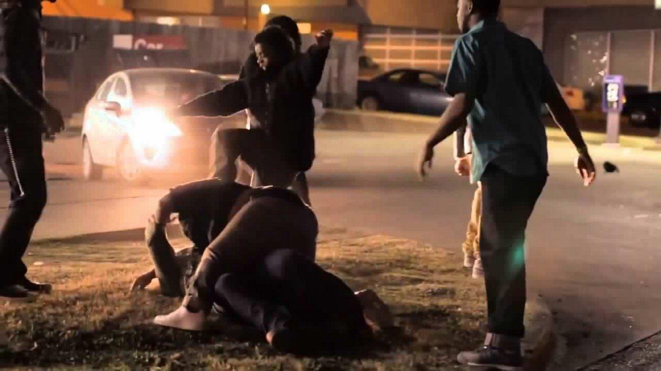 Black Gang Bangers Stomp White Man – It's a Hate Crime