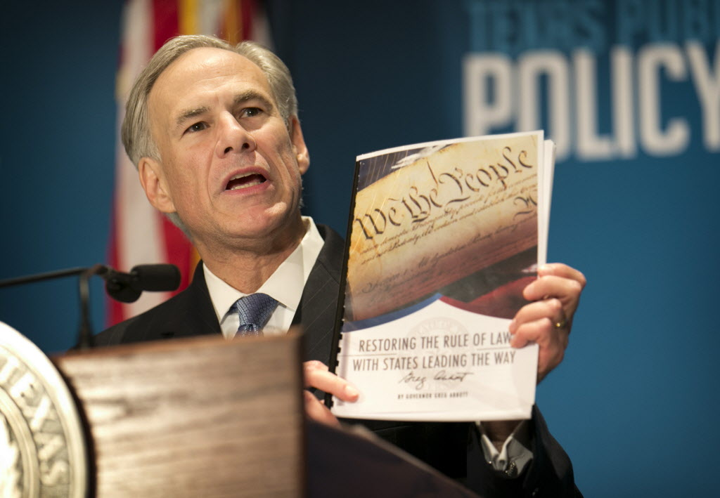 Governor Abbott (R, TX) Proposes Convention of the States to Reign in Federal Government