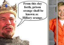 Orange is Hillary Clinton's color.