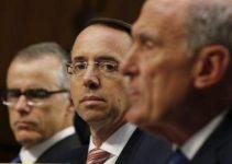 DAG Rosenstein Threatens Congressional Investigators